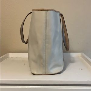 Coach Bags - Coach Tote Neutral Colors with Silver grommets